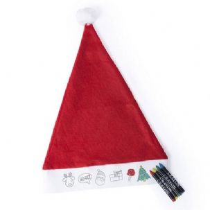 Colour Your Own Santa Hat